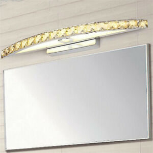 Image Is Loading Arc Crystal Bathroom Wall Light Mirror Front LED