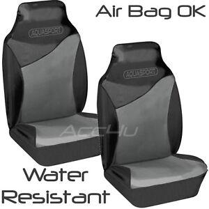 Aquasport-Eau-Resistant-Air-Sac-Ok-Gris-Noir-Siege-avant-Voiture-Protections