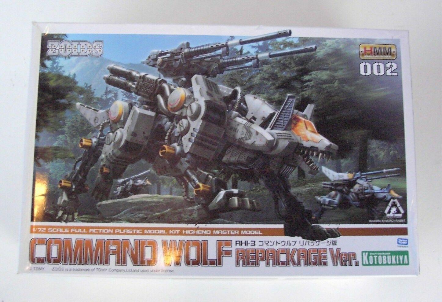 Zoids Kotobukiya hmm 002 RHI-3 Comando Wolf Menta en caja