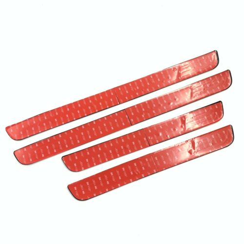 4PCS Red Rubber Car Door Scuff Sill Cover Panel Step Protector For Scion