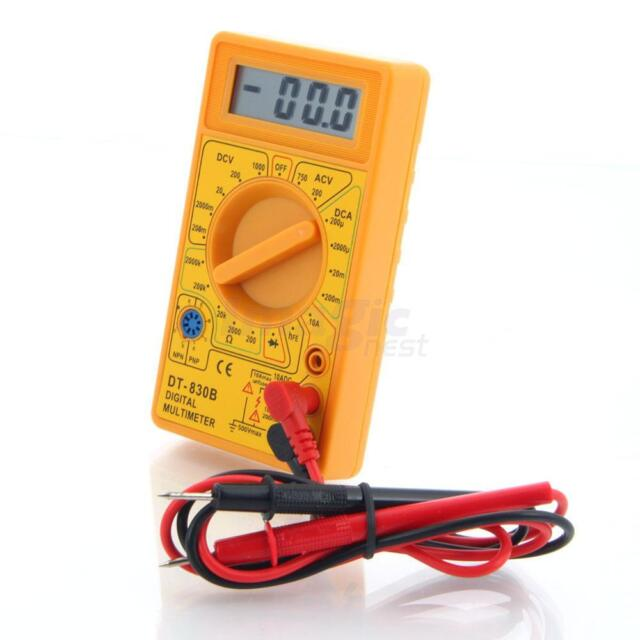 Mini DT830B LCD Digital Multimeter Voltmet Electric Voltage Tester + LEADS