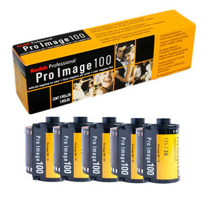 5 Rolls Kodak ProImage 100 Professional 35mm 36 Exposures Negative Film
