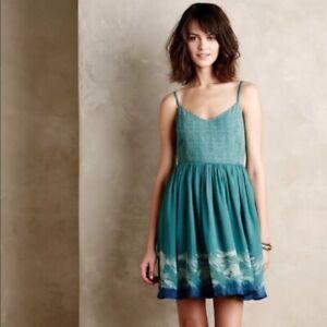 ANTHROPOLOGIE-NWT-158-Floreat-Watergarden-Koi-Fish-Cami-Dress-Size-00