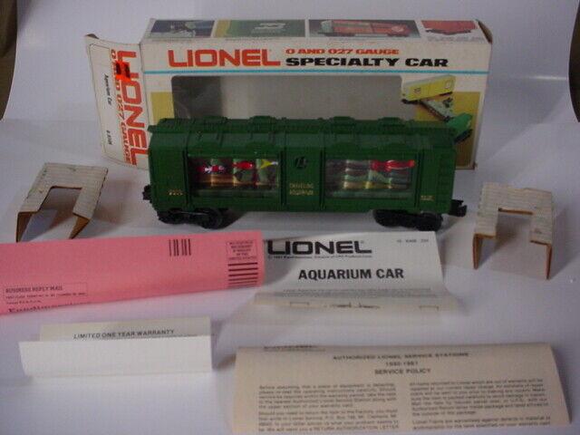 Vintage Tren Lionel o & O27 FerroCocheril acuario coche con caja y trabajo en papel 6-9308