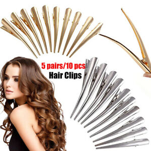 5-Pairs-Duckbill-Hair-Clips-with-Teeth-Metal-Alligator-Curl-Clips-Hair-Grip