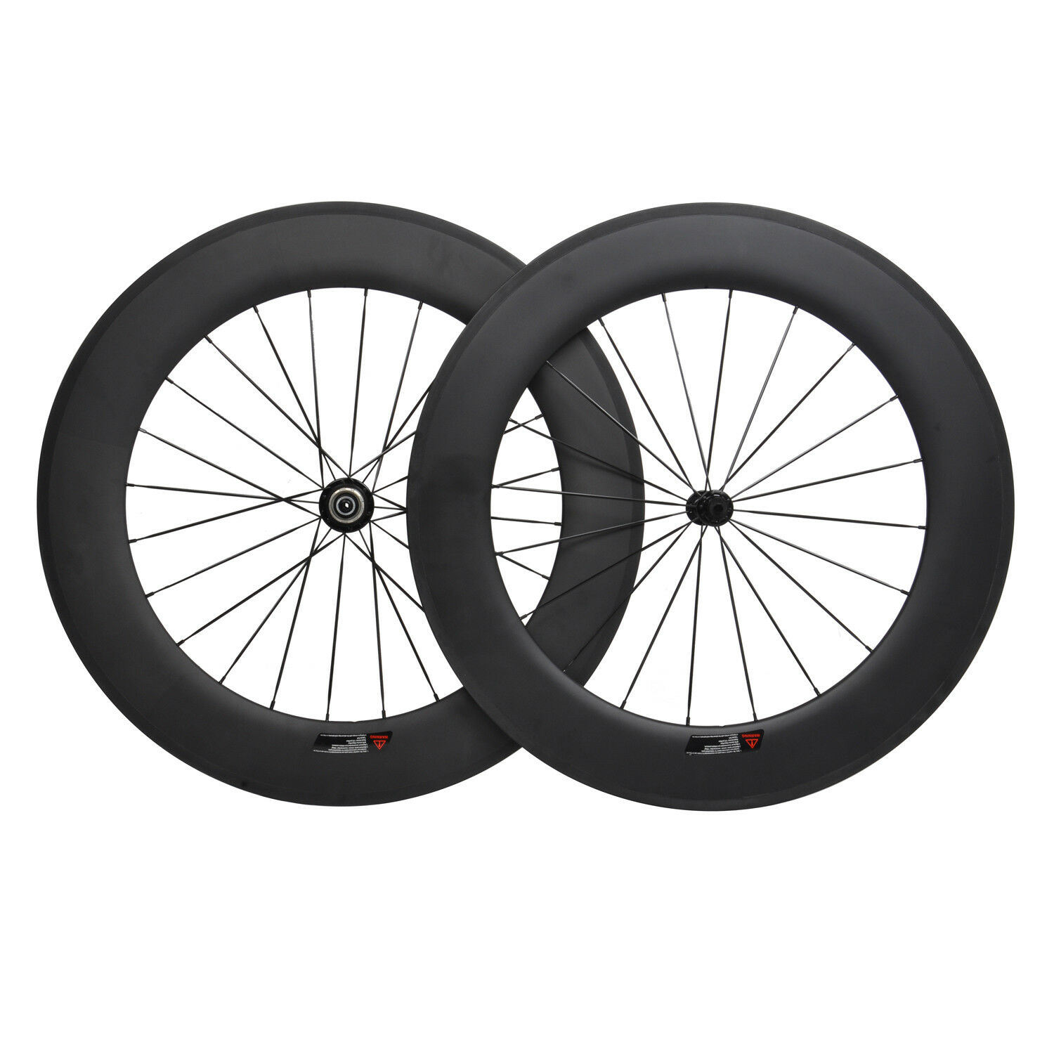 88mm Carbon Wheels Road Bike 700C Aero Clincher Wheelset UD Matt Powerway R13