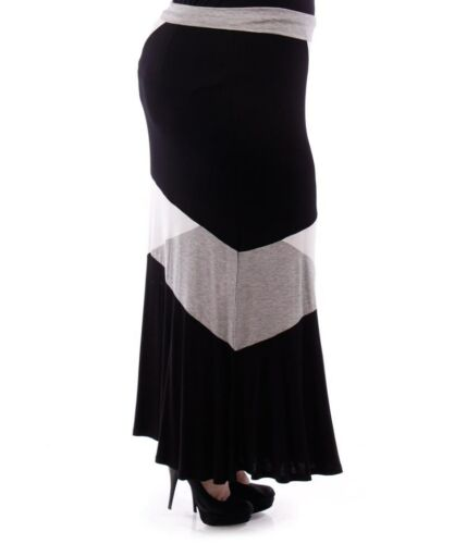PLUS SIZE COCKTAIL DAY EVENING WEAR MAXI SKIRT 1X 2X