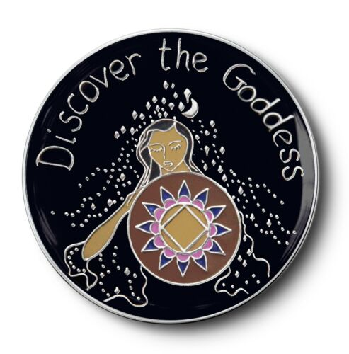NA// Discover the Goddess 12 Step Recovery Program Enameled Coin//Medallion