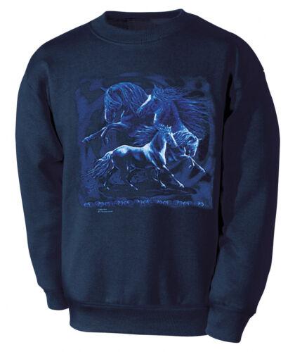 Xxl Rays Blue Fandango Collection Boetzel Pferde 09092 Designer Sweatshirt S