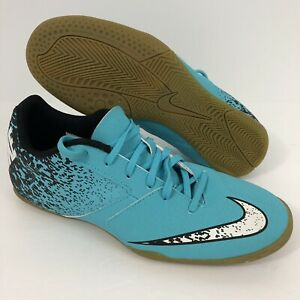 best sneakers 31bcc 4a113 Image is loading Nike-Bombax-IC-Indoor-Soccer-Sneaker-Gamma-Blue-