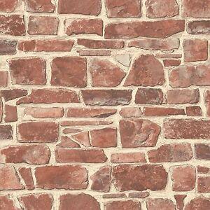 Pierre-Rouge-Mural-Papier-Peint-Rasch-265613-Brique-Piece-Decor-Neuf