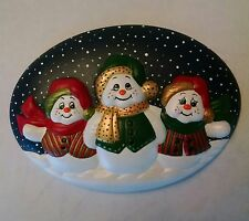 """SNOWMAN INSERT DONA'S CERAMIC BISQUE  READY TO PAINT      """"Free Shipping"""""""