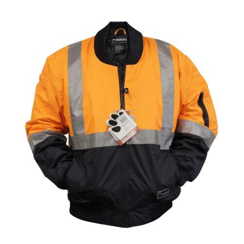 HUSKI BOMBER JACKET RAILWAY ORANGE SAFETY WORK WEAR 918131
