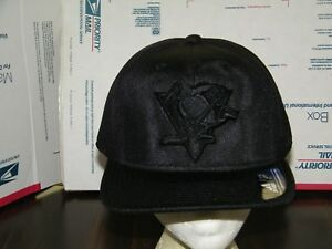 04017e93692 Pittsburgh Penguins NHL VERY RARE VINTAGE ADIDAS BLACK LOGO SNAPBACK ...