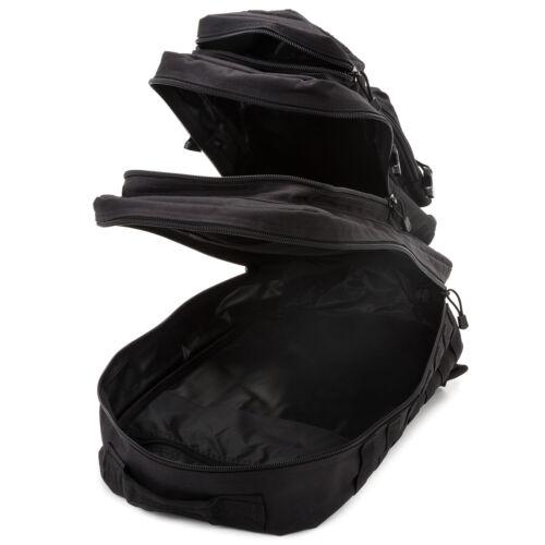 Litres Noir US Army Assault Sac à dos Sac à dos combat avec Velcro Bande 50 Ltr