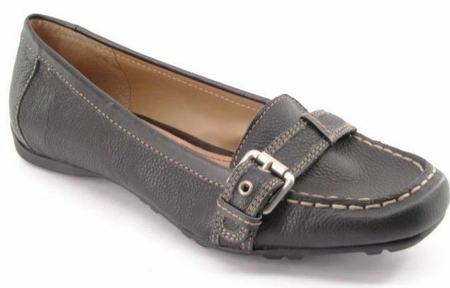 economico e alla moda New CROFT & BARROW donna Blk Leather Moccasin Flat Driving Driving Driving Casual scarpe Sz 7.5 M  prezzi all'ingrosso