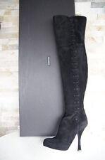 Dolce & Gabbana D&G Stiefel Gr 36 Plateau Overknees Boots Schuhe neu UVP 1399€