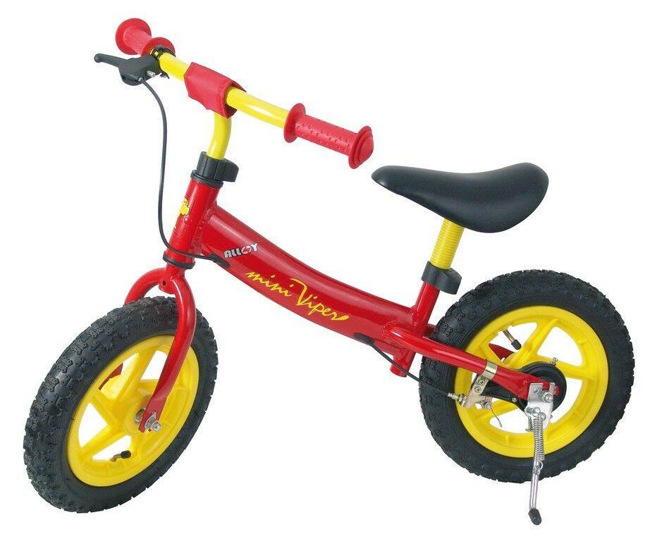 Kinderlaufrad Laufrad Laufrad Laufrad 12er 12r Mini Viper Lernrad Rad Bremse Rot   Gelb  New 2dc720