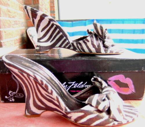 con zebra alto Bracciale seta Feldman Gr tacco Beverly 39 gratuito zebra qwnnZETx