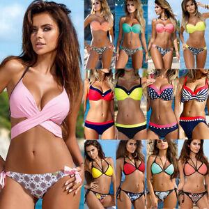 c3ce8faf83f 2019 New Women Bikini Set Push-up Padded Molded Cups Swimsuit ...