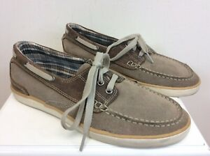 Men-s-Clarks-Deck-Boat-Shoes-Tan-Brown-Suede-Leather-Size-8M