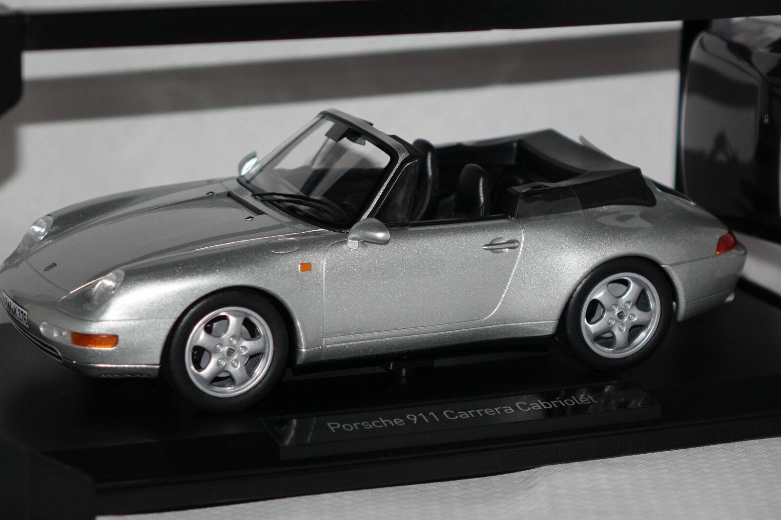 Porsche 911 (993) Cabriolet 1994 argent 1 18 NOREV NOUVEAU & OVP 187592