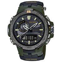 Casio Protrek Prw-6000sg-3 Prw-6000sg Accompanied Attached Band Watch Brand