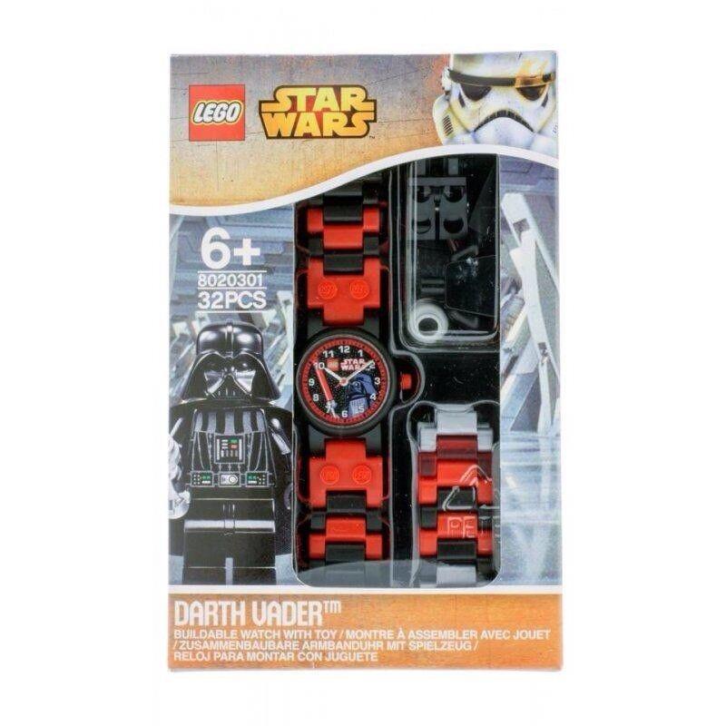 Lego Star Star Star Wars Dark Vador Kids superposée montre avec Link Bracelet + figurine bc4876