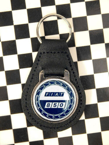 Classic Fiat 850 Rosette Keyring
