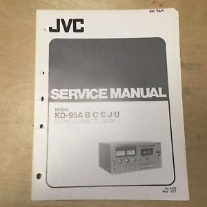 jvc service manual for the kd 95 kd 3030 a b c e j u cassette deck rh ebay com