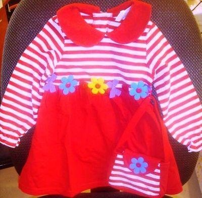 Macy S Girls Christmas Toddler Red Stripe Dress Size 2t 3t