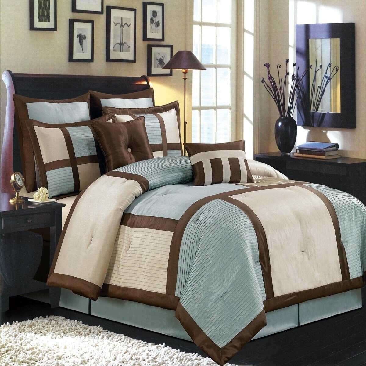 Morgan 12 PC Luxury Bed in a Bag set Includes Comforter Sheets Shams