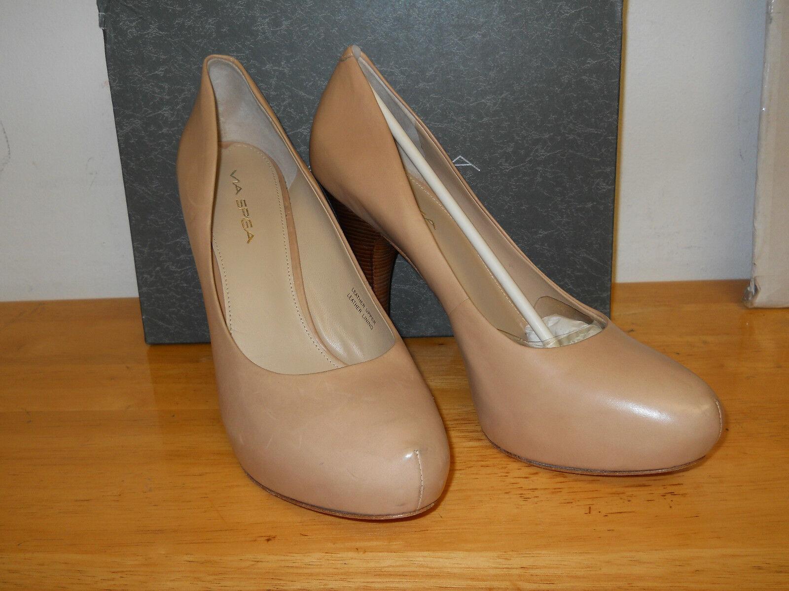 Via Spiga New Store Display damen Anita Capucino Leather Heels 10 M schuhe NWB