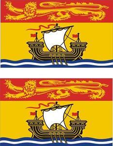 2 x Aufkleber Auto Vinyl macbook Flagge Kanada neu Brunswick