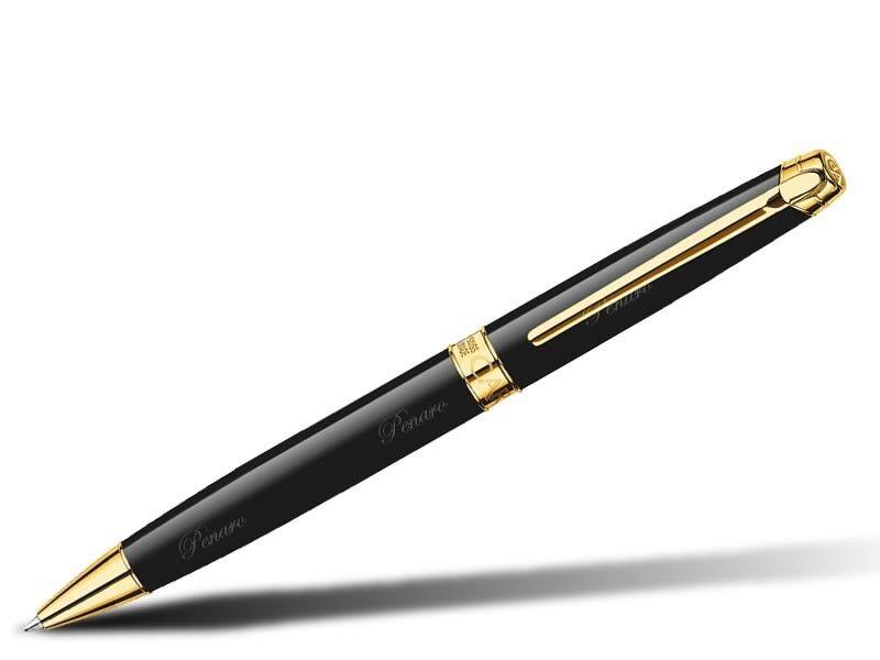 Caran d'Ache Kugelschreiber Léman Ebony Gold - 4789.282 | Großartig