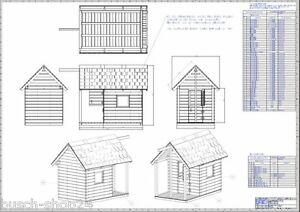 Bauplan Anleitungen Kinder Spielhaus Holz Gartenhaus Villa