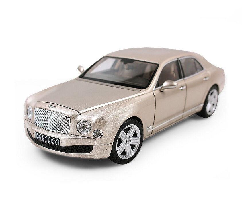 Rastar 1 18 Bentley mulsanne Diecast Metal Model Vehicle Car oro
