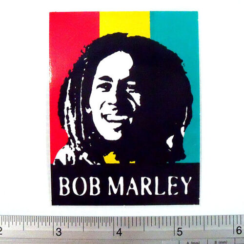 "Bob Marley Non Reflective Light Sticker Decal Reggae 2.5x3/"" III"