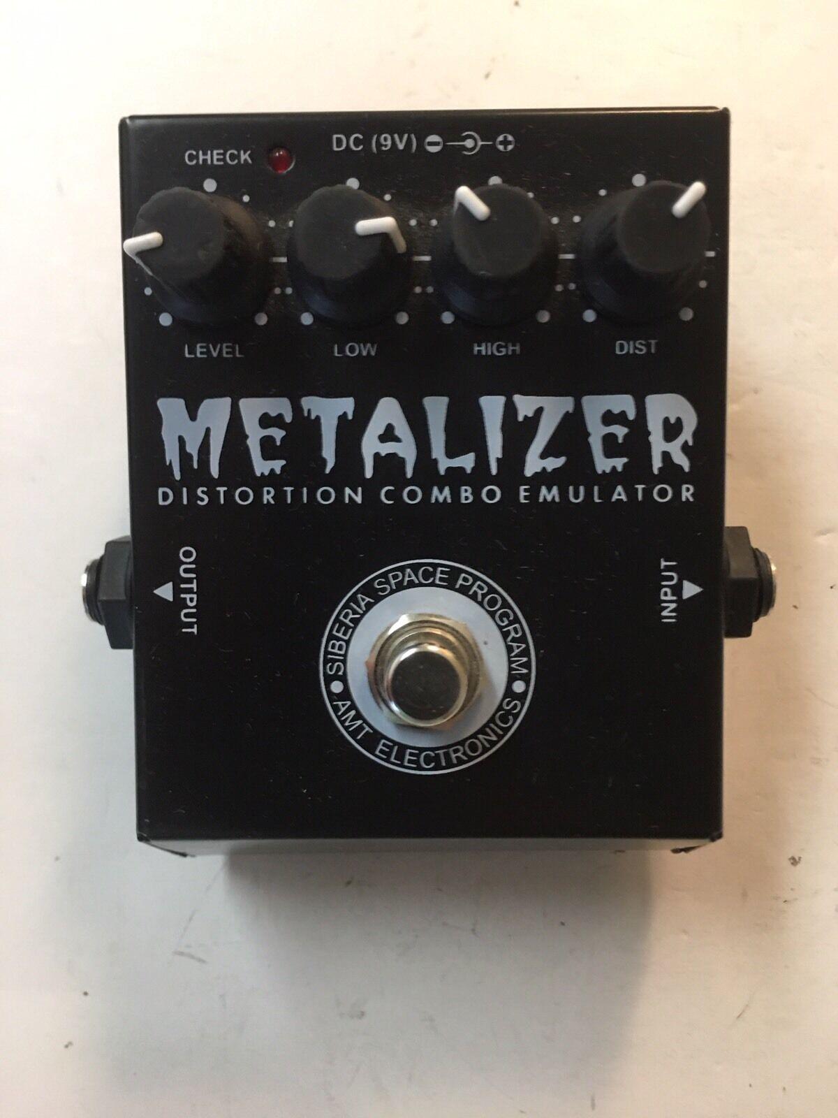 AMT MZ-1 Metalizer Metal Distortion Combo Emulator Rare Guitar Effect Pedal