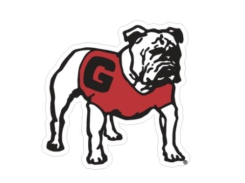 UGA GEORGIA Old Standing Bulldog Cornhole Decals SET of 2