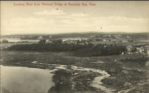 Buzzard-039-s-Bay-Cape-Cod-MA-West-From-RR-Bridge-c1910-Postcard