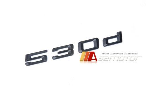 530d Matte Black Trunk Lid Rear Emblem Badge Letter for BMW E39 E60 F10 5-Series