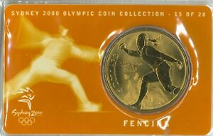 Australian-Last-5-Bronze-Coin-Fencing-Sydney-Olympics-Commemorative-issue