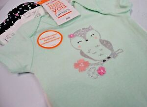 Just-One-You-Made-By-Carter-039-s-Baby-Girl-Bodysuit-3-Pack-Owl-Design