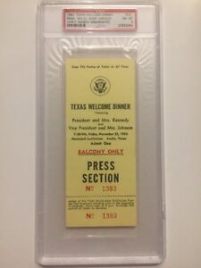 1963-Texas-Welcome-Dinner-PRESS-PASS-President-John-F-Kennedy-Assassination-PSA