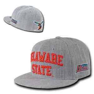 DSU Delaware State University Hornets NCAA Fitted Flat Bill Baseball ... b7d8751851ad