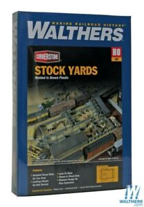 Walthers-933-3047-Stock-Yards-2-Pens-Kit-HO-Scale-Train