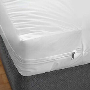 Waterproof-Zippered-Vinyl-Mattress-Cover-None-Allergenic-Bed-Bug-Protector-FS