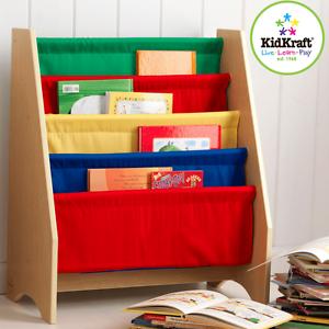 NEW KidKraft Sling Bookshelf Primary Children's Book Shelf Reading Books 14226