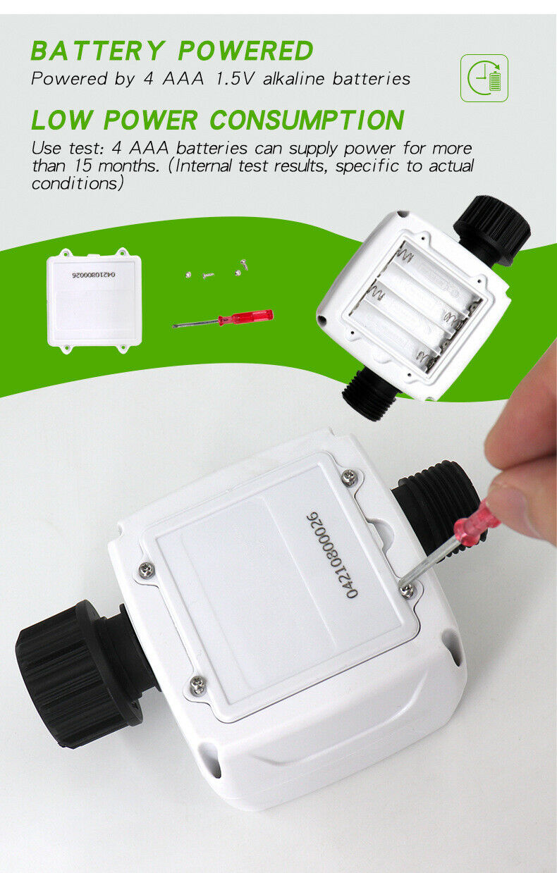Intelligent Automatic Irrigation Timing Valve Garden Yard Watering Controller L